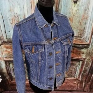 Boys Blue Jean Jacket Denim Vintage Size L